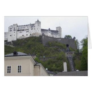 Hohensalzburg fästning Salzburg Österrike Hälsningskort