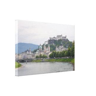 Hohensalzburg slott, Salzburg, Österrike Canvastryck