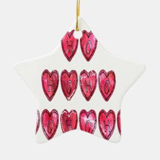 Hohoho! Desi för kärlek för jul för Santa kall Julgransprydnad Keramik