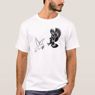 Hök vs duvaT-tröja (vit) T Shirt