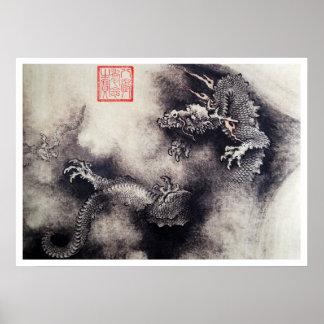 Hokusai - drakerullor poster