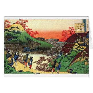 Hokusai - japansk konst - Japan Hälsningskort