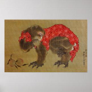 """Hokusais """"apa"""" affisch"""