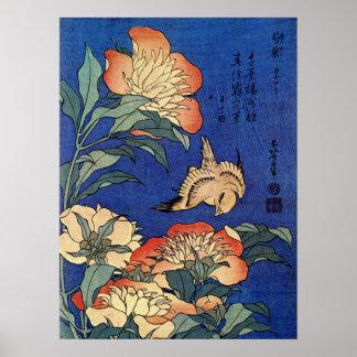 """Hokusais """"blomma affisch"""