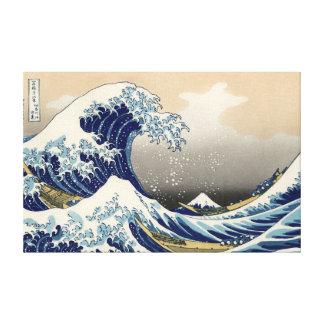 "Hokusais ""vinkar underbaren av Kanagawa"" kanfas Canvastryck"