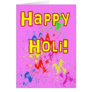 Holi festival av färgkortet hälsningskort