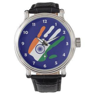 holiES - den Indien flagga räcka - det är din tid Armbandsur