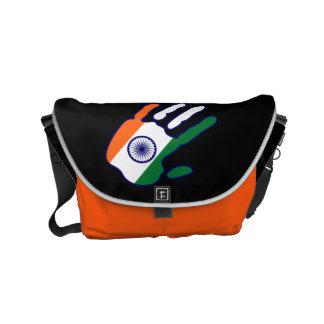 holiES - den Indien flagga räcker + dina idéer Kurir Väska