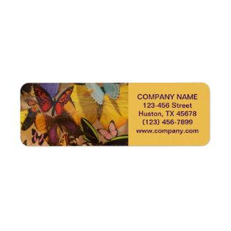 Holistic läka fjäril för bohemisk YogaZen Returadress Etikett