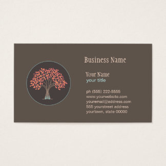 Holistic läka trädvisitkort visitkort