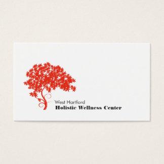 Holistic rött träd och vård- alternativ visitkort