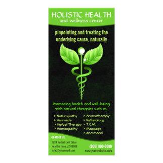 Holistic vård- kuggekort för alternativ medicin anpassningsbara rackkort