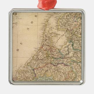 Holland Belgien 2 Julgransprydnad Metall