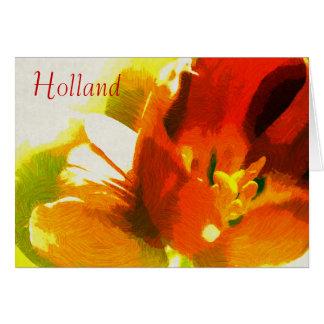 Holland Impressionistvårtulpan noterar kortet OBS Kort