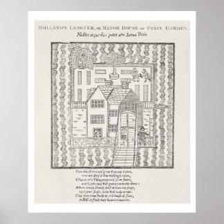 Holland Leaguer eller mangårdsbyggnad, av den Pari Poster