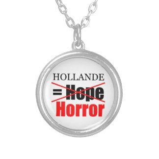 Hollande inte hopp = fasa!!!!!!!!!!! halsband med rund hängsmycke