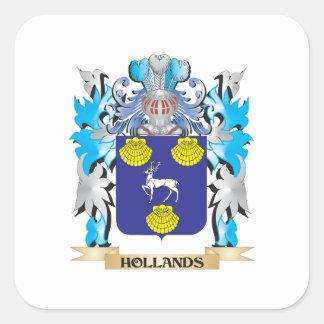 Hollands vapensköld - familjvapensköld fyrkantigt klistermärke
