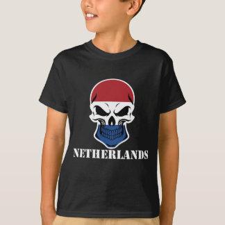 Holländsk flaggaskalleNederländerna T-shirt