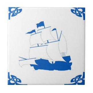 Holländsk frakt för blått kakelplatta