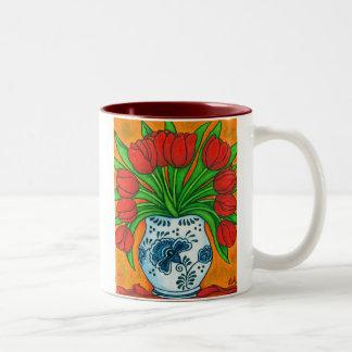 Holländsk fröjdkaffemugg Två-Tonad mugg