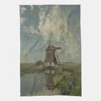 Holländsk kvarn på polderwaterwayen Paul Gabriël Kökshandduk