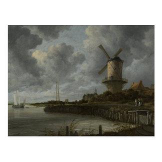 Holländsk kvarnWijk bij Duustede, Ruisdael Vykort