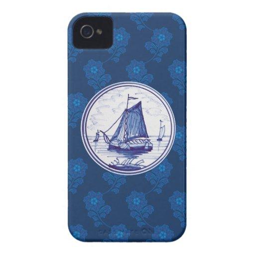 Holländska traditionella blått belägger med tegel Case-Mate iPhone 4 fodral