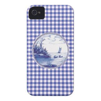 Holländska traditionella blått belägger med tegel iPhone 4 Case-Mate cases