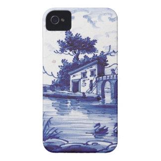 Holländska traditionella blått belägger med tegel Case-Mate iPhone 4 skal