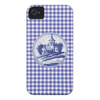 Holländska traditionella blått belägger med tegel iPhone 4 Case-Mate skydd