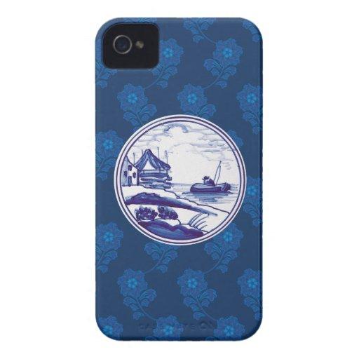 Holländska traditionella blått belägger med tegel iPhone 4 fodral