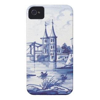 Holländska traditionella blått belägger med tegel iPhone 4 cases