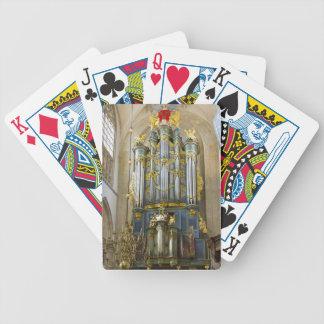 Holländskt organ som leker kort spelkort