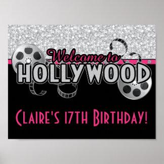 Hollywood födelsedagsfestaffisch poster