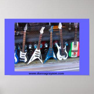 Hollywood gitarrer poster