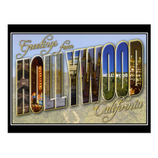 hollywood vintagevykort vykort