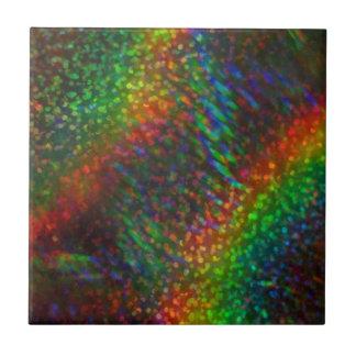 Holographic glitterregnbågar för glänsande ljus liten kakelplatta