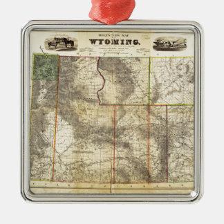 Holts nya karta 1883 av Wyoming vid den franka Julgransprydnad Metall