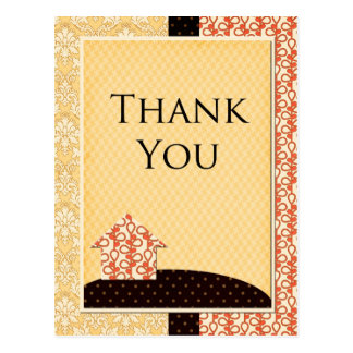 Homespun tackkort vykort