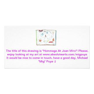 Hommage på Joan Miro Fotokort