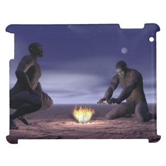 Homoerectusen och avfyrar - 3D framför iPad Mobil Skydd