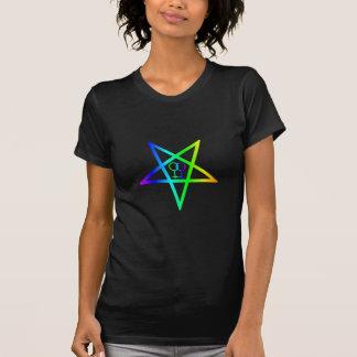 Homosexuell kvinnlig inverterad Pentagram för Tee Shirt