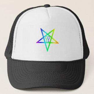 Homosexuell kvinnlig inverterad Pentagram för Truckerkeps
