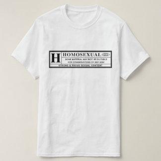Homosexuell varningsetikett t-shirts