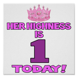 Hon Highness är EN poster i dag