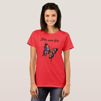 Hon kan flyga tee shirts