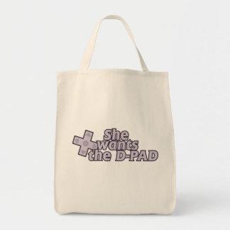 Hon önskar Det vadderar gamerflickan Tote Bag