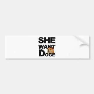 Hon önskar dogen bildekal