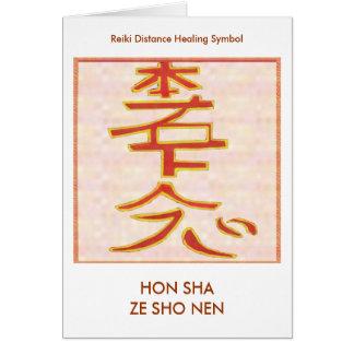 HON SHA ZE SHO NEN - läka för Reiki avstånd Hälsningskort