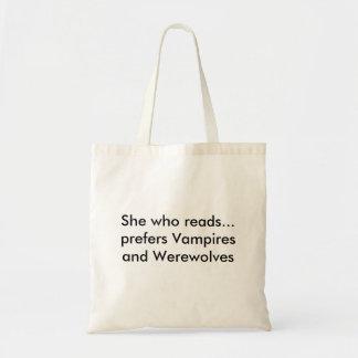 Hon som läser… föredrar vampyrer och Werewolves Kassar